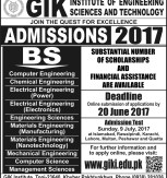 KPK GIKI University Topi How to Apply For BSc Engineering Admission 2017 Fall Undergraduate Programs Test Details Fee Structure Facilities Accommodations