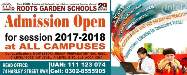 The Roots School System Admissions 2017 Eligibility Fee Policy Procedure Online Application Form