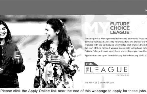Habib Bank Limited HBL Management Trainee Jobs 2018