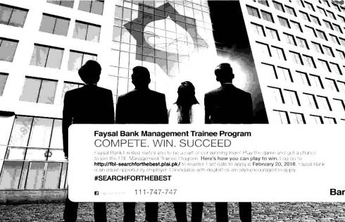 Faysal Bank Management Trainee Program Jobs 2018