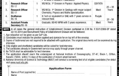 Ministry Of Science And Technology Jobs 2018