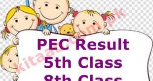 PEC 5th Class Result 2021 Punjab Board 5th Grade