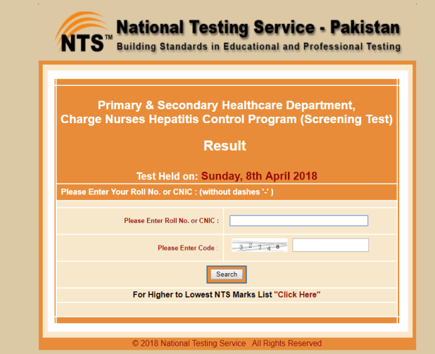 PSHD Charge Nurses Hepatitis Control Program NTS Result 2018 Interview Date