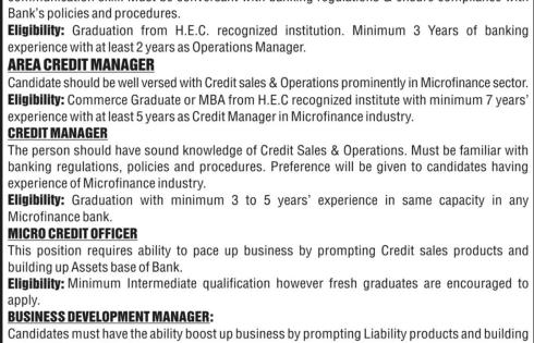 Micro Finance Apna Bank Limited Jobs 2018 Online Apply