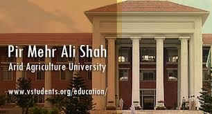 Pir Mehr Ali Shah Arid Agriculture University UAAR Rawalpindi Entry Test 2021