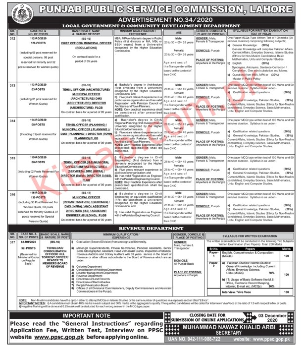 Apply Online PPSC Jobs 2020 in Local Govt and Research Community Development Last Date