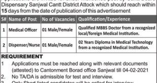 Cantonment Board CB Attock Jobs 2021 Application Form Eligibility Criteria Last Date