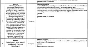 Sargodha University of Sargodha Jobs 2021 Terms and Conditions to Apply Information