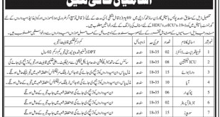 Sindh Police Hospital Jobs 2021 Application Form Eligibility Criteria Last Date