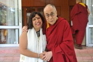Dipika with His Holiness Dalai Lama Kitaab Interview