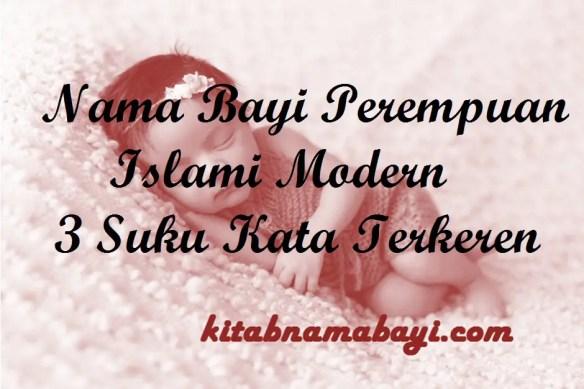 Nama Bayi Perempuan Islami Modern 3 Suku Kata