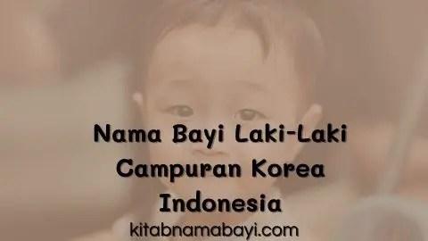 nama bayi laki-laki campuran korea indonesia