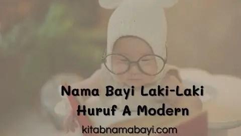 nama bayi laki-laki huruf A modern