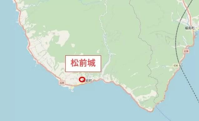 松前町の位置