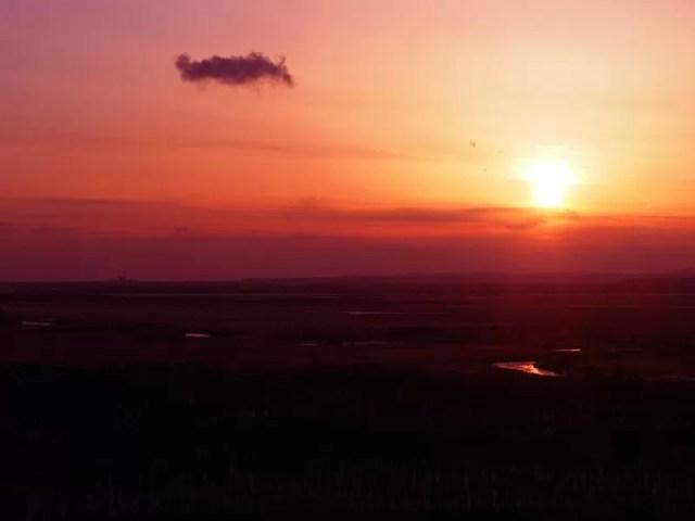 細岡展望台の夕日