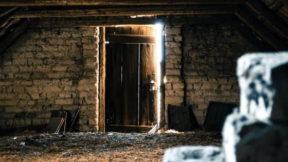 image of sunlit door