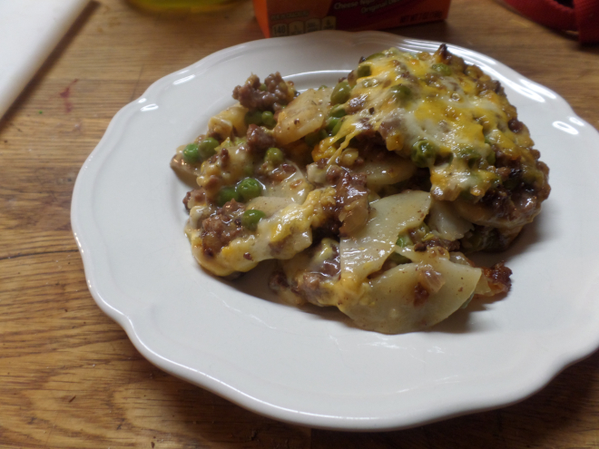 Potato Lasagna, Otherwise Known as Kitchen Sink Casserole