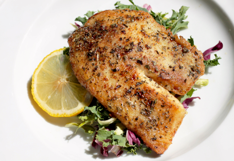 Easy Lemon Butter and Basil Tilapia