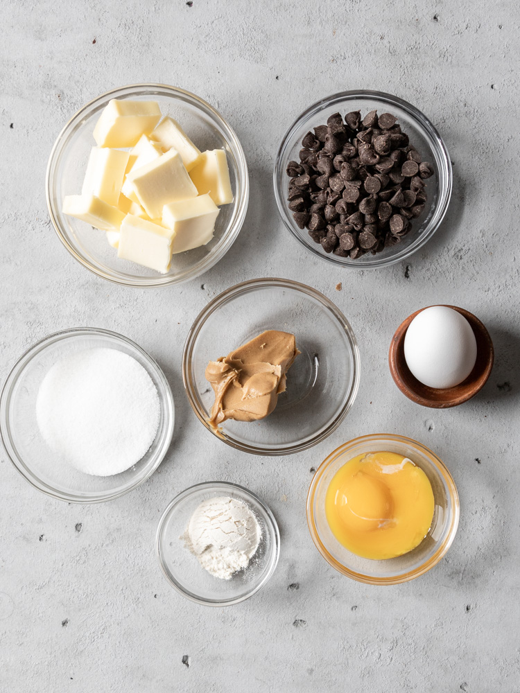 All of the ingredients for lava cake