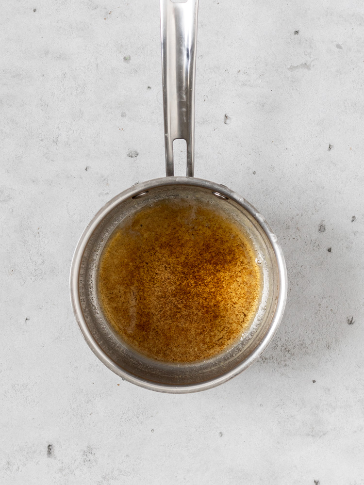 A saucepan of brown butter