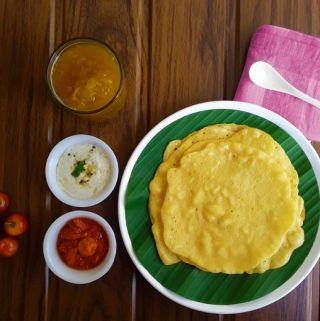 Sweet Taushali - A sweet, Konkani cucumber pancake