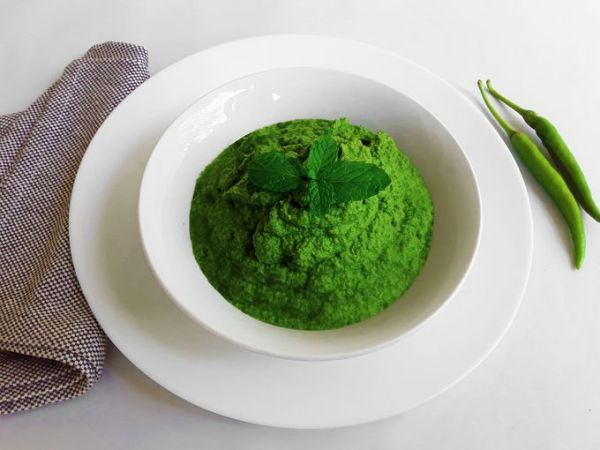 Green Mint / Spearmint Chutney