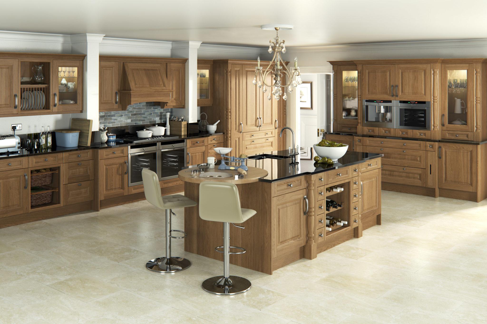traditional kitchen design - oak kitchens - traditional ... on Traditional Kitchen Decor  id=66196