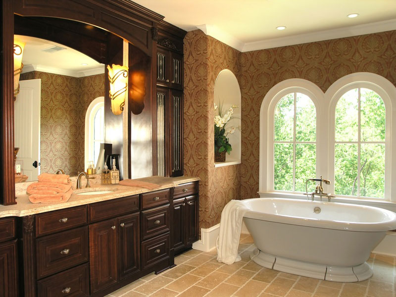 Custom Bathroom Vanities Cherry Cabinet Oakton VA