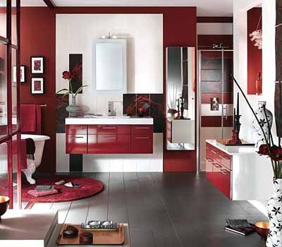 red-wall-paint-matching-contemporary-bathroom-cabinets-northern-virginia-kitchen-bathroom-remodeling-and-renovation