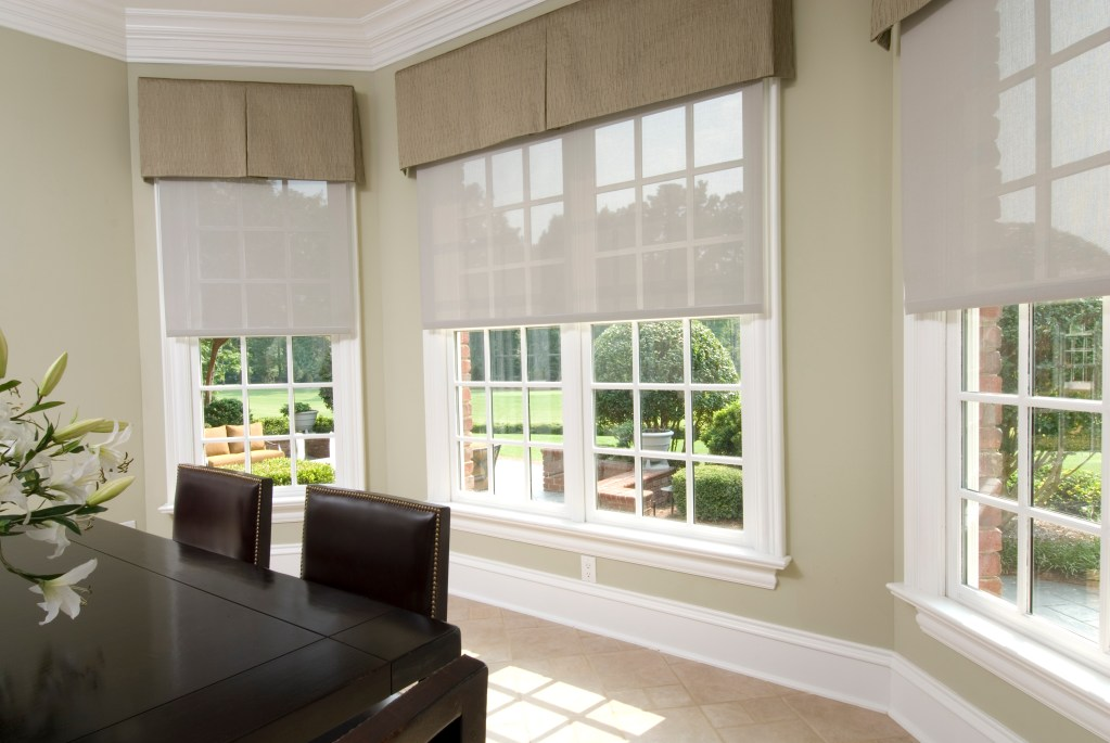 Nice Lutron Shades automatically controlled