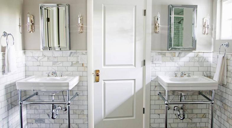 elements of a vintage bathroom - kitchen bath trends