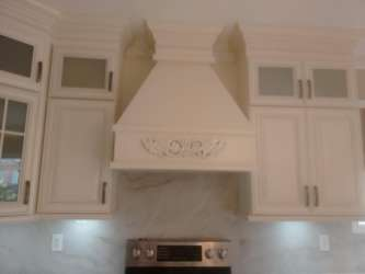 Custom range hood installation