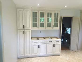Additional kitchen cabinetry for storage