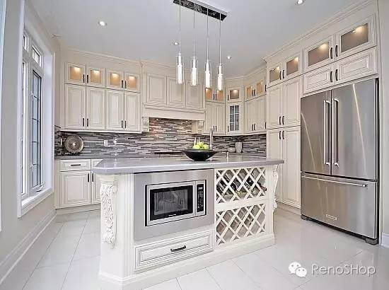 Kitchen cabinet remodel example