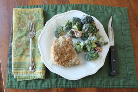 Oatmeal and Parmesan Crusted Boneless Pork Chops