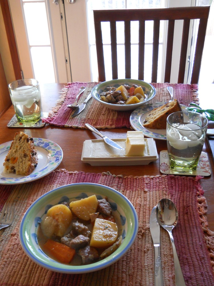 ALMOST-IRISH STEW for the Slow-Cooker, with SHAMROCK IRISH SODA BREAD (1/6)
