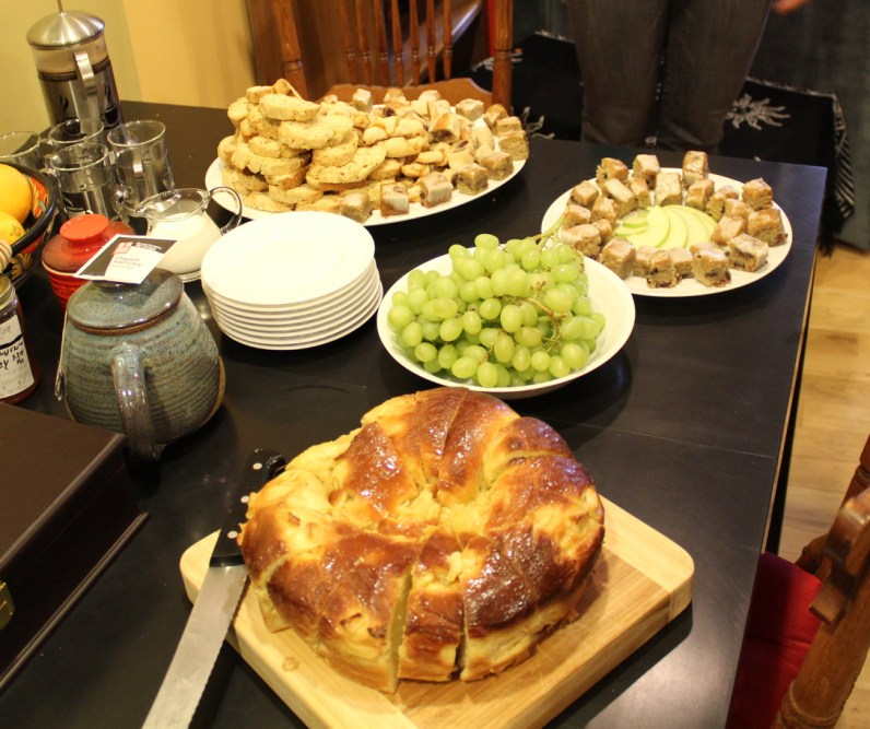 The whole spread (minus hamantaschen)