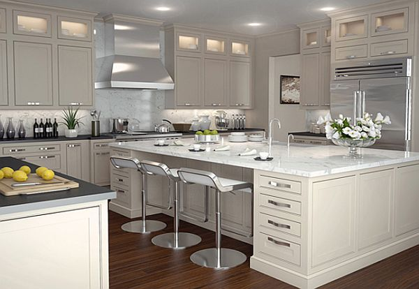 Whimsy white shaker cabinets