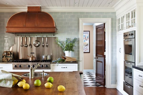 Kitchen copper interior design