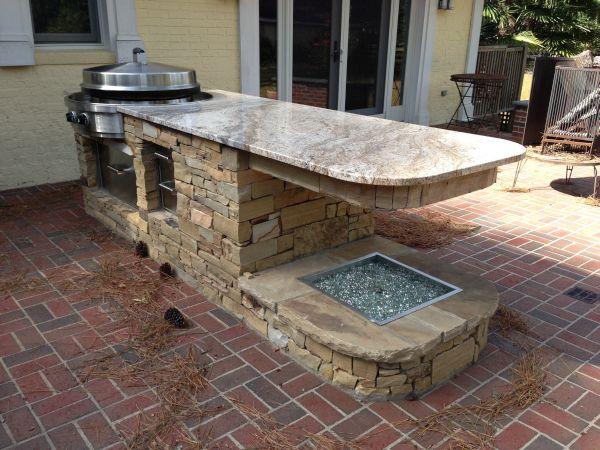 constructing an outdoor kitchen (3)