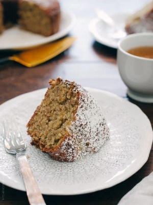 Banana Pineapple Cake | www.kitchenconfidante.com | Bananas and pineapple make this comforting cake moist and delicious.
