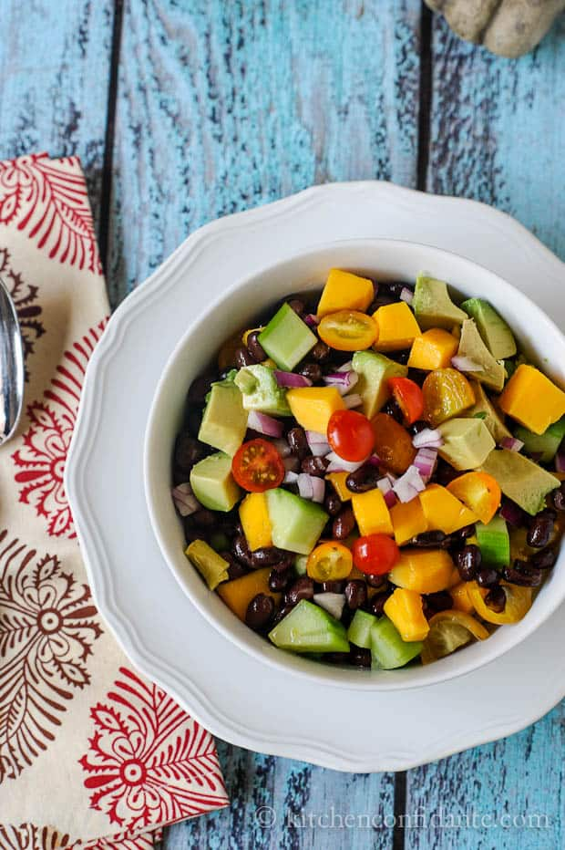 Not only is this Mango and Black Bean Salad colorful, it is incredibly good for you. Full of rich nutrients and an excellent source of protein, it makes a perfect pairing for whatever else may be gracing your dinner table!