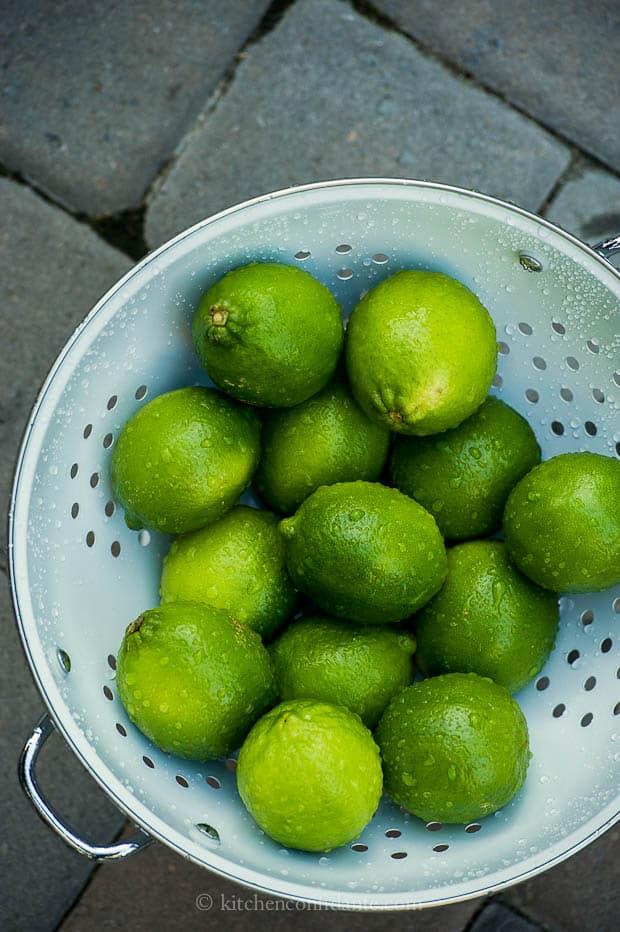 Green Apple Margarita | Kitchen Confidante | Limes