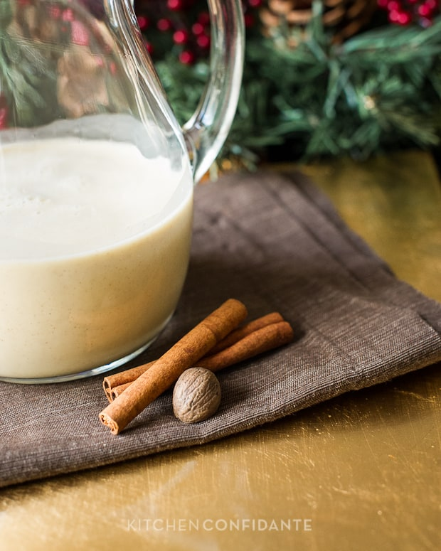 Coconut Hazelnut Eggnog | Kitchen Confidante | Cinnamon & Nutmeg