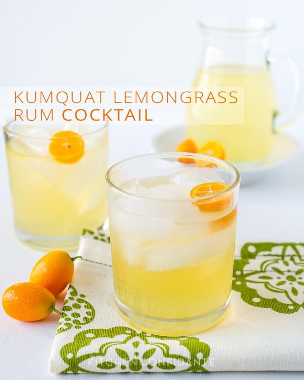 Kumquat Lemongrass Rum Cocktail | Kitchen Confidante
