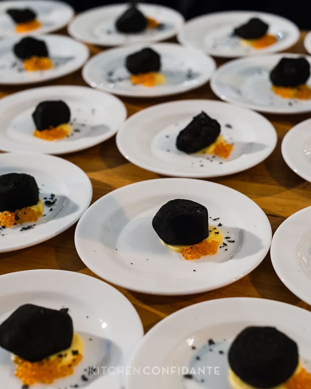 Sixth Annual Pebble Beach Food & Wine, April 2013 | Kitchen Confidante | Dried Beet & Sea Urchin by Chef Matthew Lightner