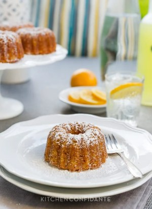 Meyer Lemon Mini Bundt Cakes | Kitchen Confidante | www.kitchenconfidante.com
