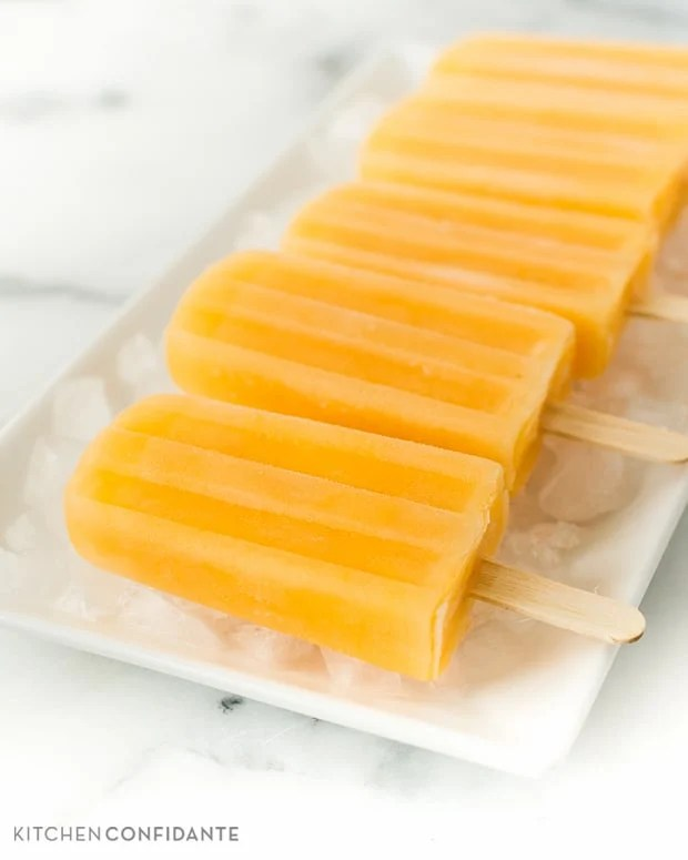 Cantaloupe Lime Popsicles | www.kitchenconfidante.com