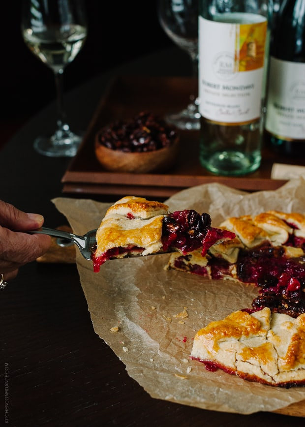 Cranberry Wine Galette | www.kitchenconfidante.com