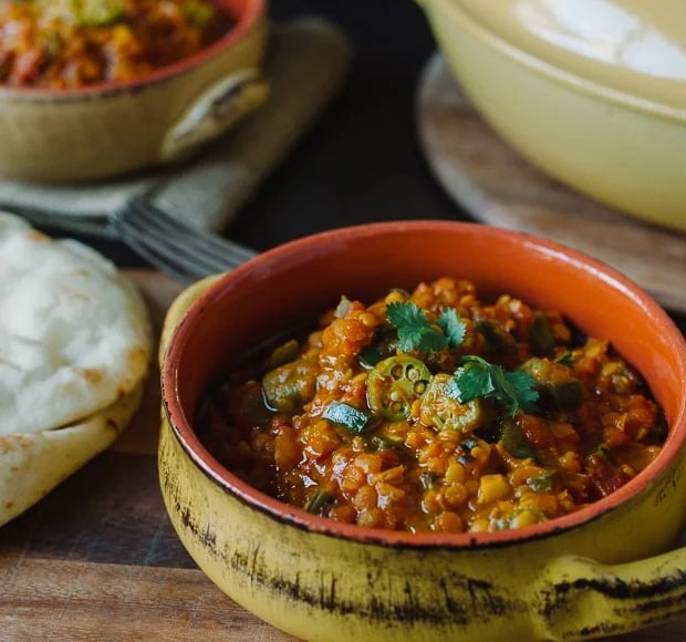 Lentil Okra Curry | www.kitchenconfidante.com